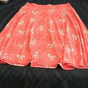 Teddy bear print circle skirt